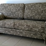 fabric sofa dark green