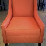 fabric arm chair orange