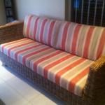 Fabric patio cushions