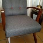 Fabric retro arm chair