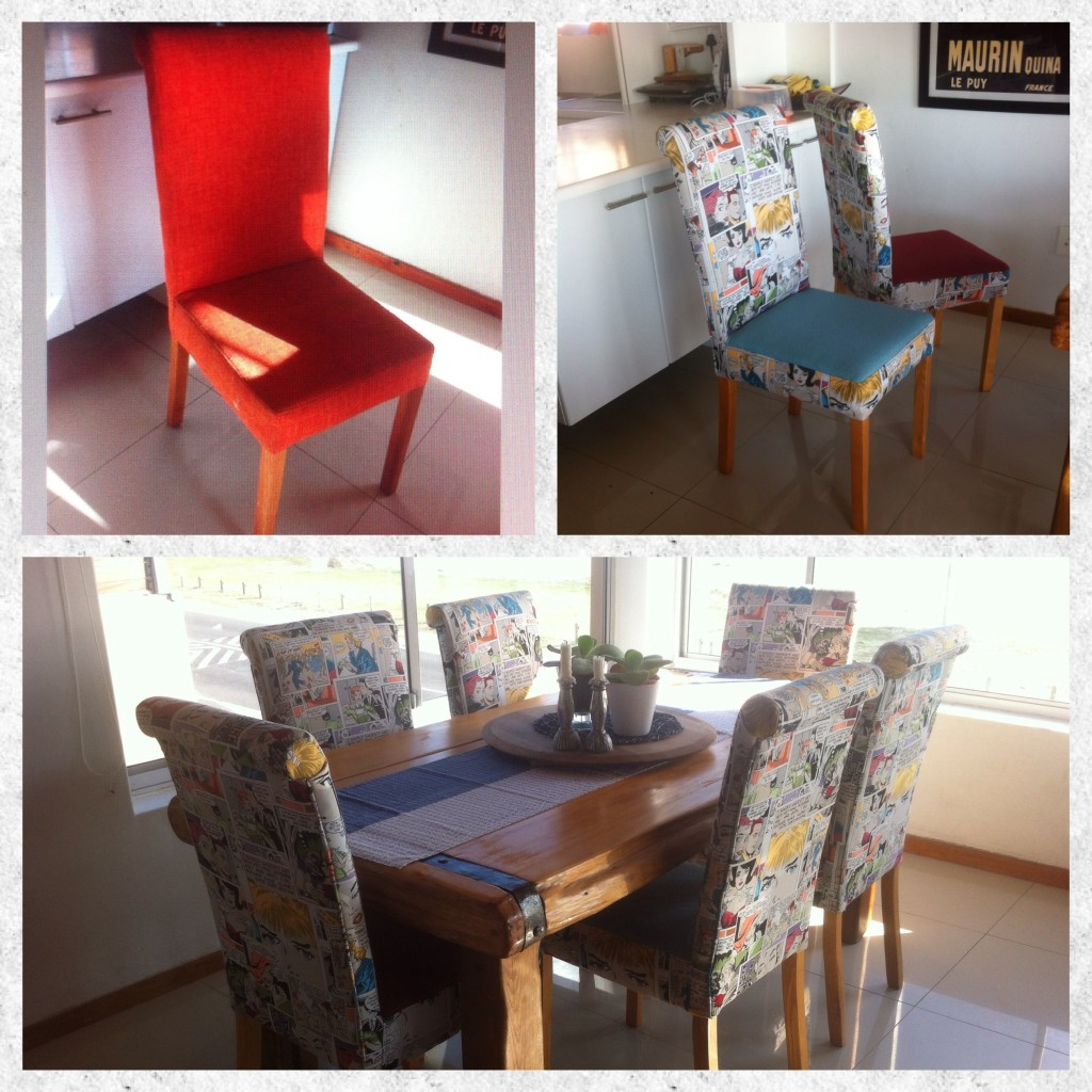 Fabric retro chair silver upholstery cape town