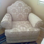fabric arm chair damask