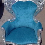 fabric arm chair silver