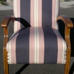 fabric arm chair striped