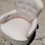fabric boudoir arm chair