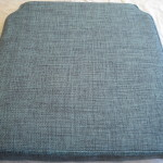 fabric box cushion aqua
