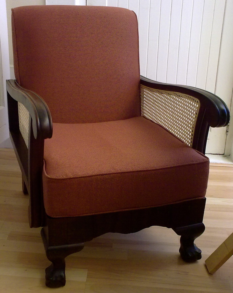 Fabric Morris Arm Chair Black Stripes Upholstery Cape Town