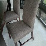 fabric dining chair brown