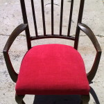 fabric dining chair red