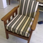 fabric morris arm chair black stripes