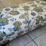 fabric ottoman floral