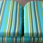fabric outdoor cushions blue