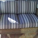 fabric outdoor cushions brown