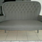 fabric queen anne sofa grey