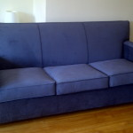 fabric sleeper couch grey