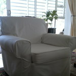 fabric slipcover white