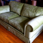 fabric sofa lime