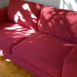 fabric sofa red