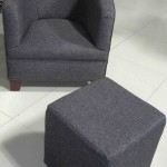 fabric tub chair and ottoman black