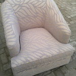fabric tub chair beige leaf