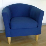 fabric tub chair blue
