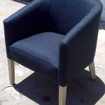 fabric tub chair grey