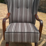 fabric wingback chair brown1