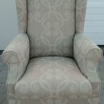 fabric wingback chair coffee
