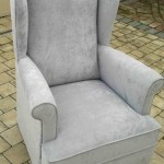 fabric wingback chair silver