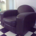 leather club arm chair