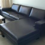 vinyl corner lounge suite