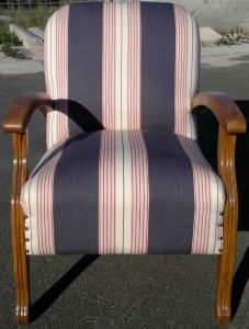 reupholstered retro chair