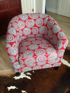 Reupholstered Tub Chair