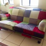 Reupholstered Velvet Two Seater Couch
