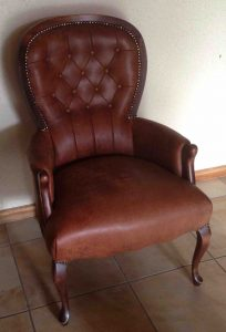 Leather chair upholstery newlands