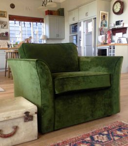 fabric chair green velvet