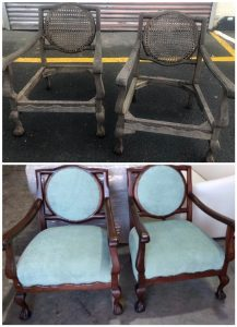 wood restoration and reupholstery
