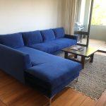 blue velvet corner suite
