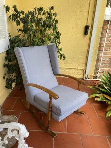 rocking chair with outdoor fabric