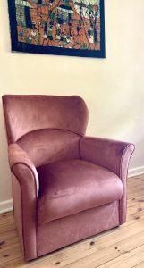 spice velvet rocking chair