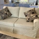 stain-resistant fabric slipcover